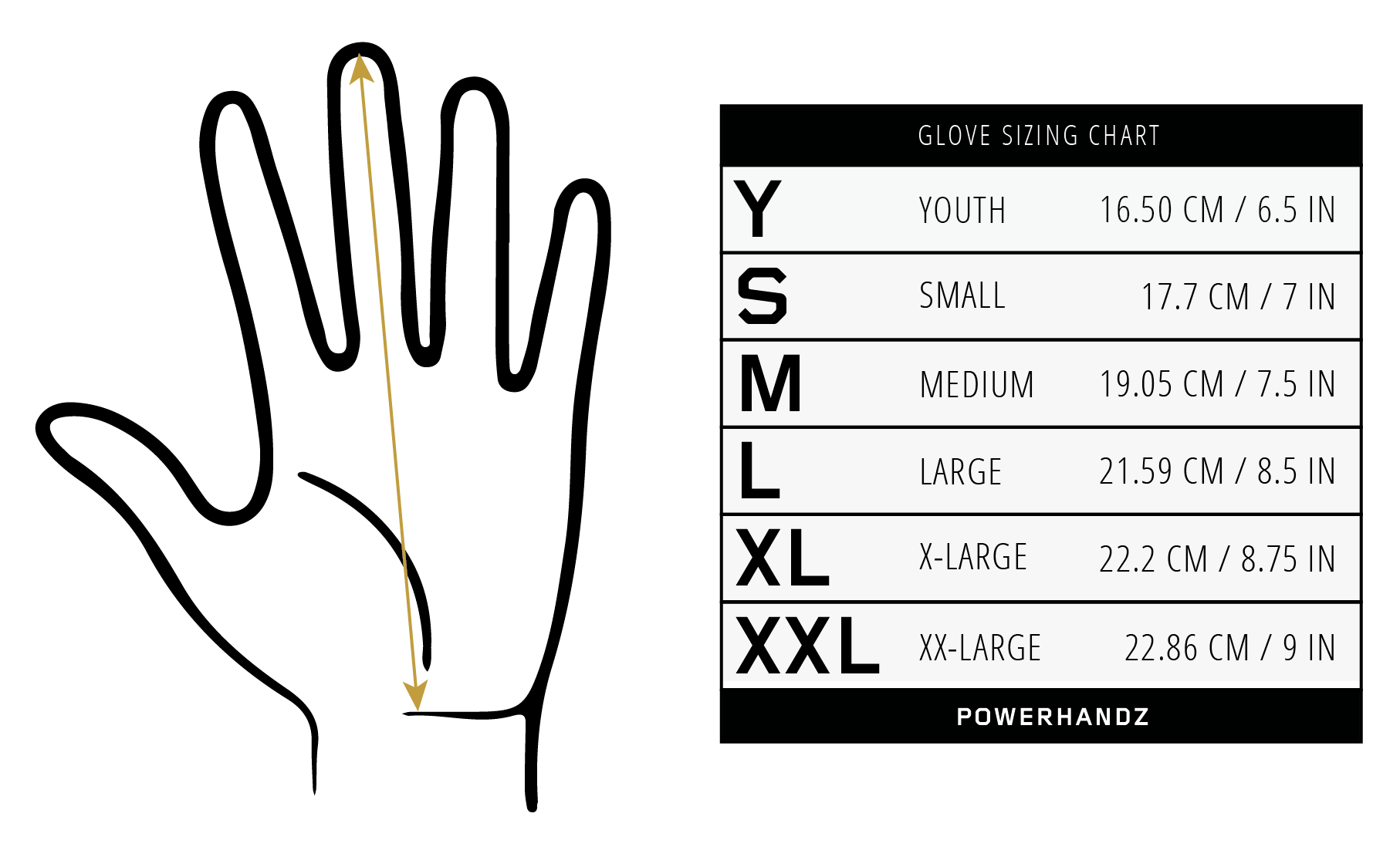 powerhandz_basketball_gloves_sizing_chart