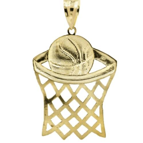 Basketball Pendant and Necklace Set