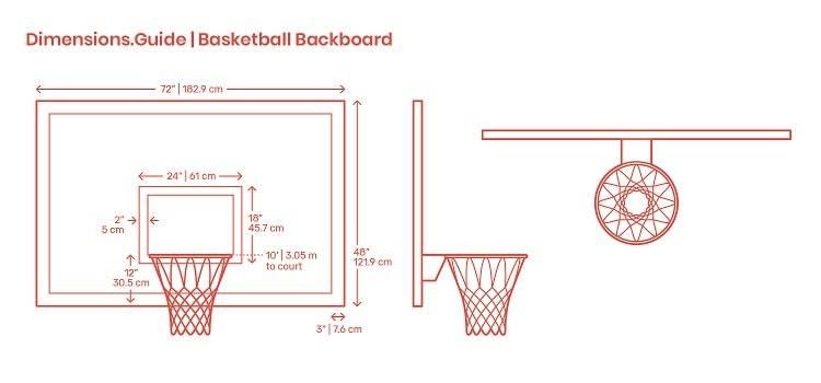 Size Of Portable Basketball Hoop Backboard